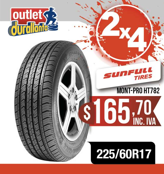 <strong>llanta</strong>S 225/60R17 SUNFULL MONT-PRO HT782 TUCSON NEW SPORTAGE GT SPORTAGE XLINE MT Koleos CVT GLORY