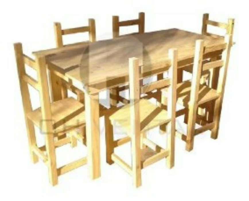 Vendo Mesa de Pino 6 <strong>silla</strong>s
