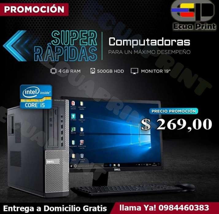 Computadora Completa Core I5 Cpu Dell Slim / 500GB Disco /4GB Ram/<strong>monitor</strong> 19'/Teclado y mouse Usb/ Wifi usb
