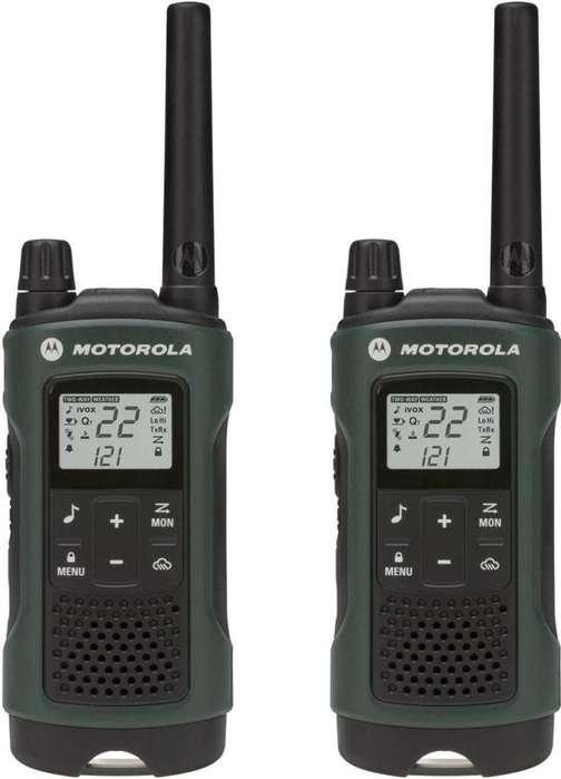 Radio Motorola Walkie Talkie T465mc Manos Libres Resist 56km