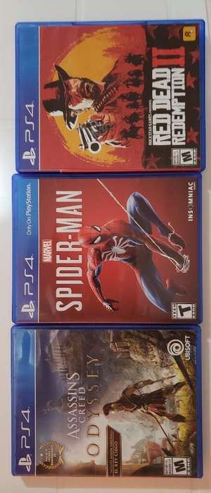 Juegos Ps4: Spiderman, Aco, Rdr2
