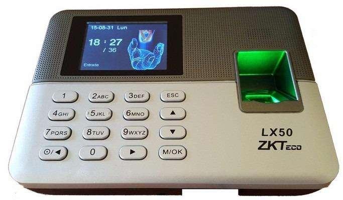 Contol De Asistencia Zkteco Lector D Huellas Biometrico Lx50