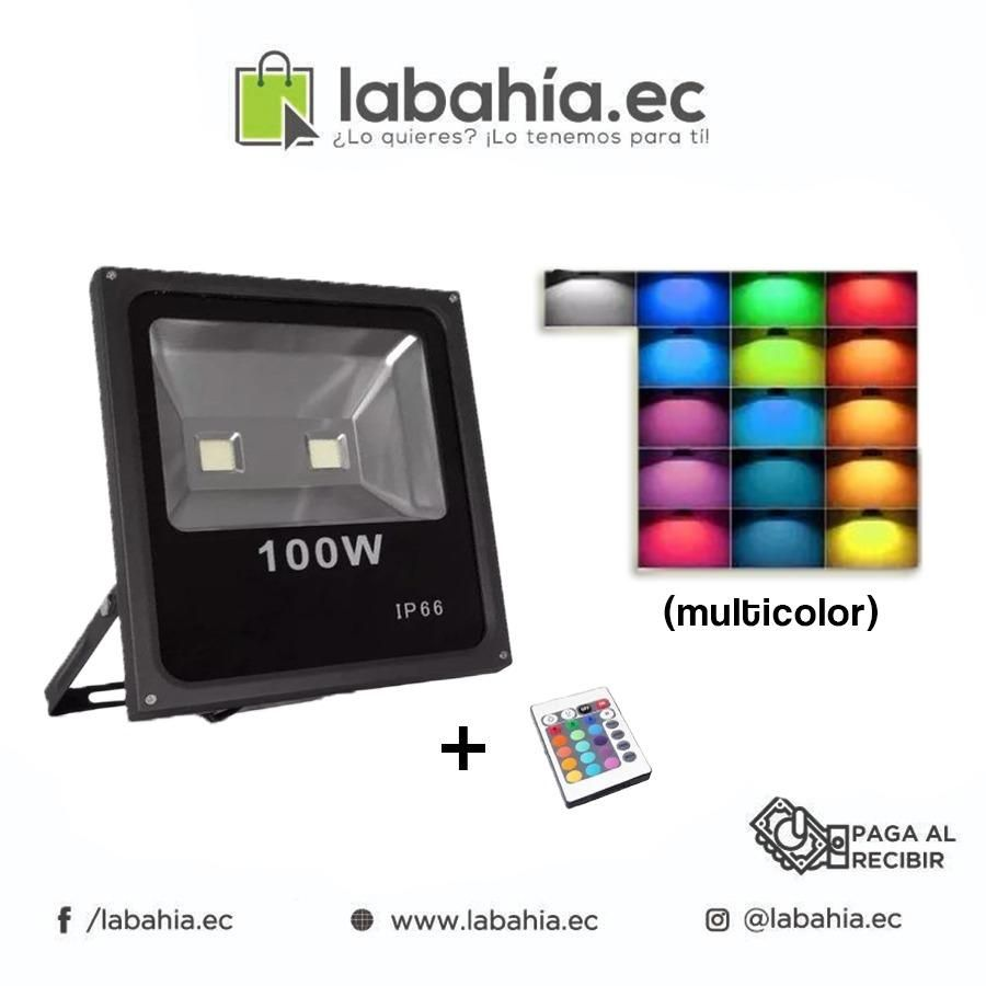 Reflector Led Rgb 100w Ip66 Multicolor  Control 16 Colores
