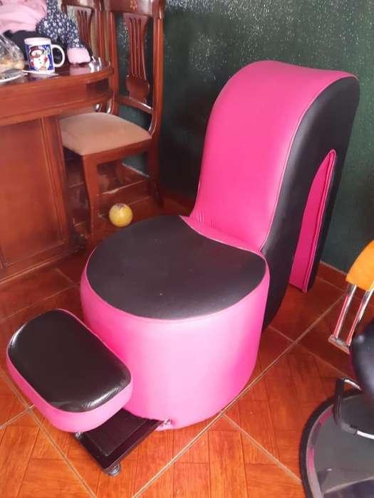 Articulos varios peluqueria (lavacabezas/silla/pedicure/taburetes/mesa/asistente)