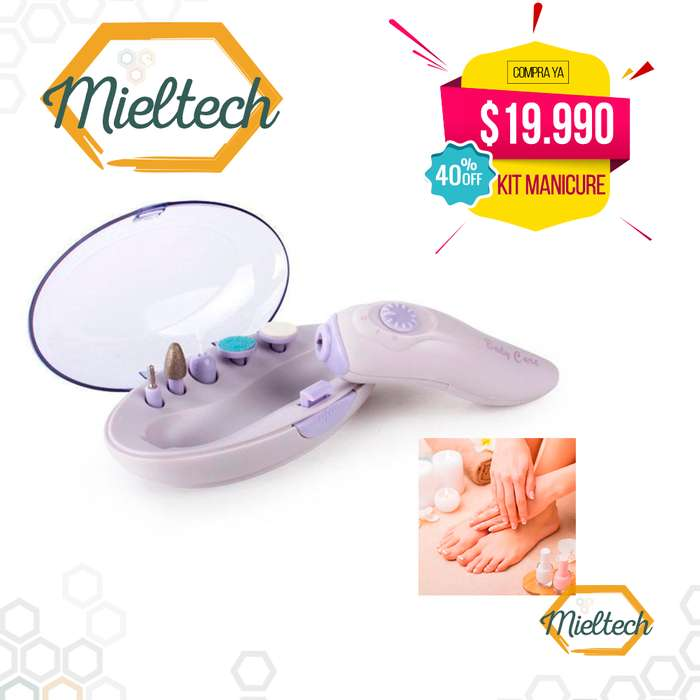 Kit Manicure Pedicure Pulidor Y Brillo Uñas electrico nail art