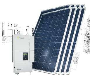 KIT GENERACION ENERGÍA SOLAR 5kWp PC5000-B120/240