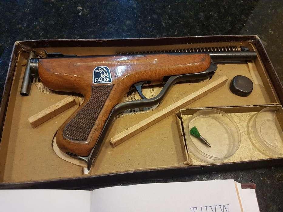 Hermosa Pistola de Aire Antigua