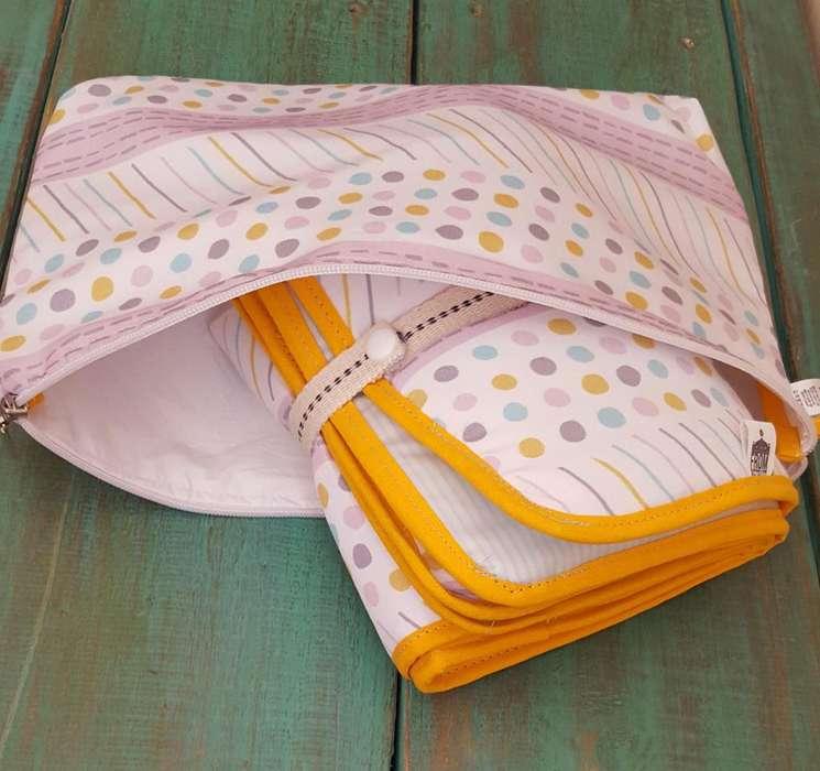 Necessaire Impermeable P/llevar Pañal,oleo Baby Shower