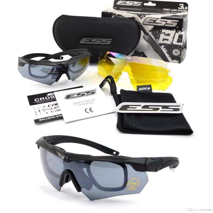 Lentes Tacticos Ess Crossbow Pack 5 Lunas Intercambiables Deportes Entrenamiento Ciclismo Gafas Visor