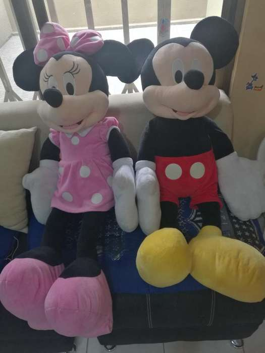 Peluches Grandes Mickey Mouse Y Minnie