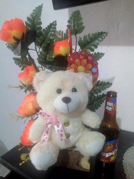 Peluches con Flores Artificiales