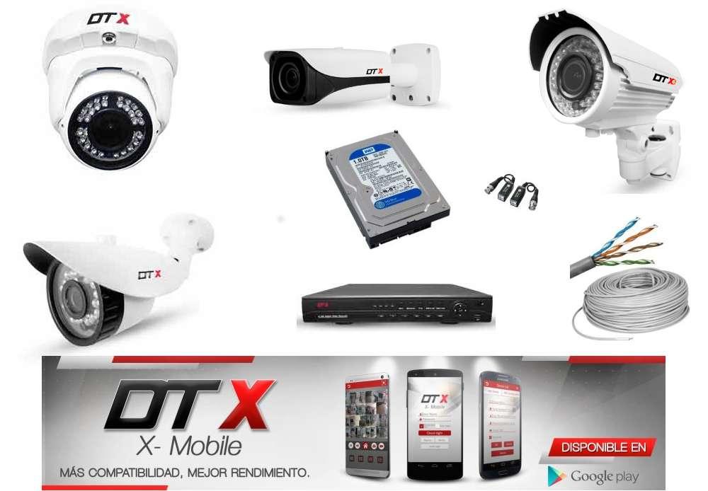Kit 4 Cámaras de vigilancia