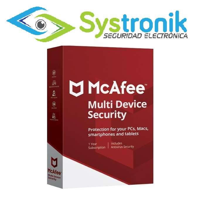 Mcaffee Antivirus Multidevice 3 Dispositivos X 15 Meses