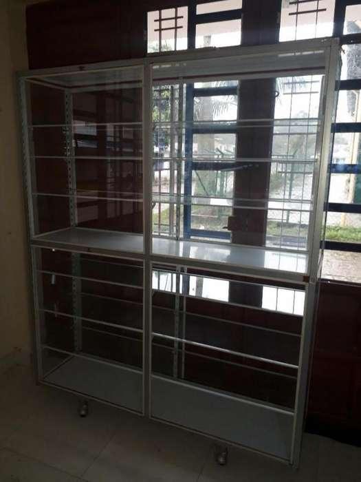 <strong>vitrina</strong> en Aluminio de 2 Pisos