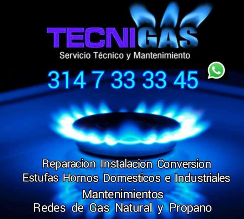 CALI REPARACION INSTALACION CONVERSION ESTUFAS HORNOS HOGAR INDUSTRIALES REDES TECNICO GAS NATURAL