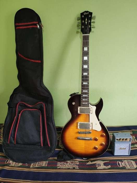 Guitarra Eléctrica Cort 250 Y Accesorios