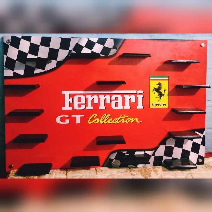 Repisa para Coleccion de Carros Ferrari.