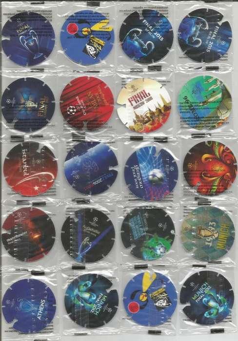 20 Tazos Champions League todos en sus empaques