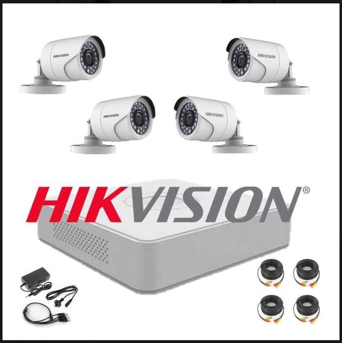 Kit de Seguridad Hikvision Dvr Camaras
