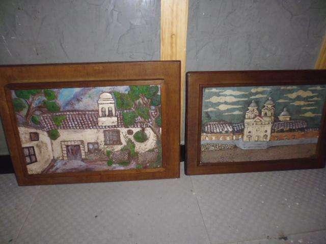 cuadros en alto relieve marco en madera de 46 de alto x 65 de ancho y el otro 42 de alto x 61 de ancho 3122802858