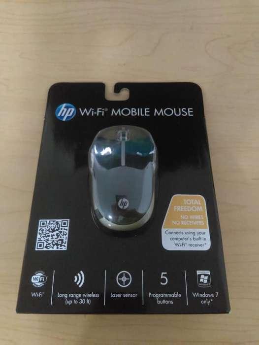Mouse móvil inalámbrico HP Wi-Fi Negro / Plata total libertad