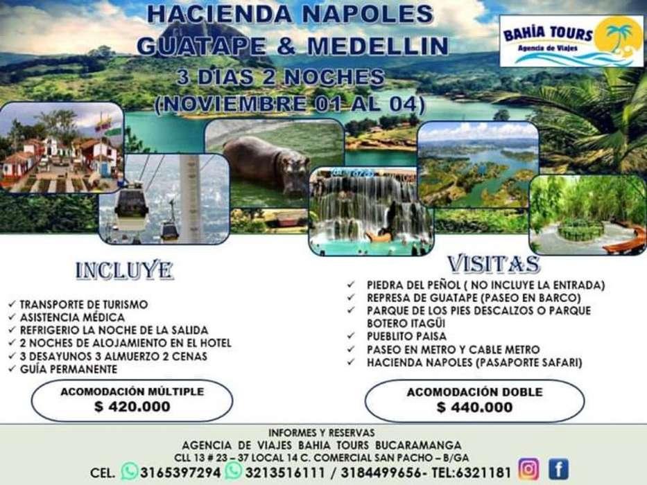 Tour Medellin Guatape Napoles Noviembre
