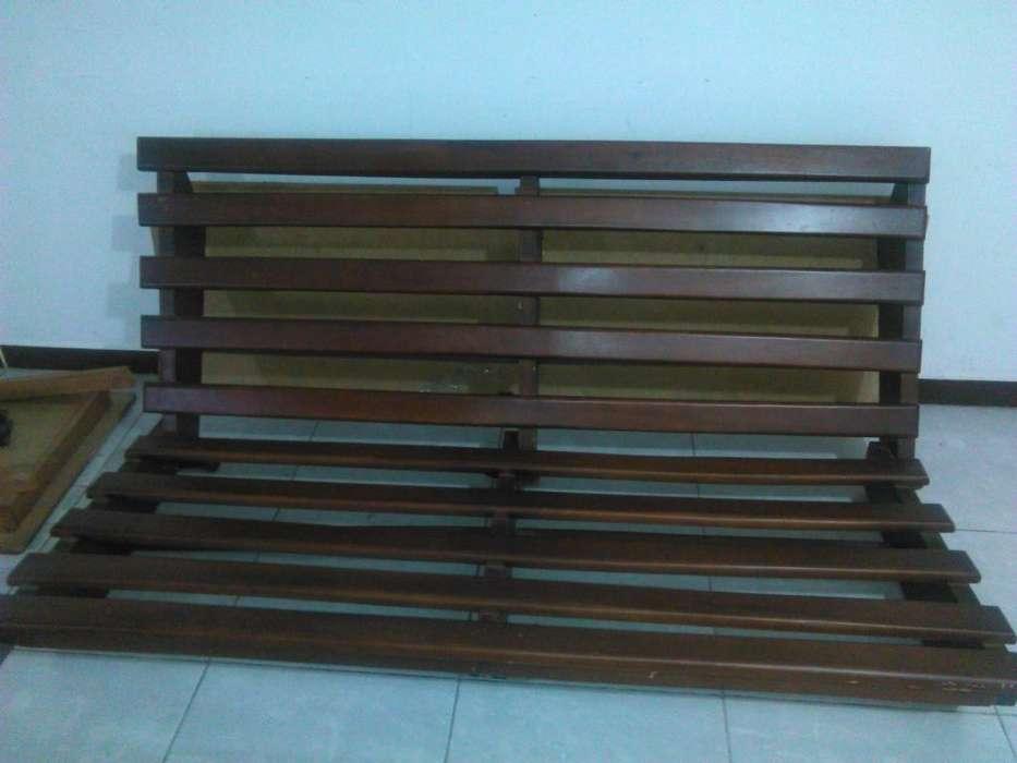 Sofa <strong>cama</strong> en Madera 2 y 3 Puestos