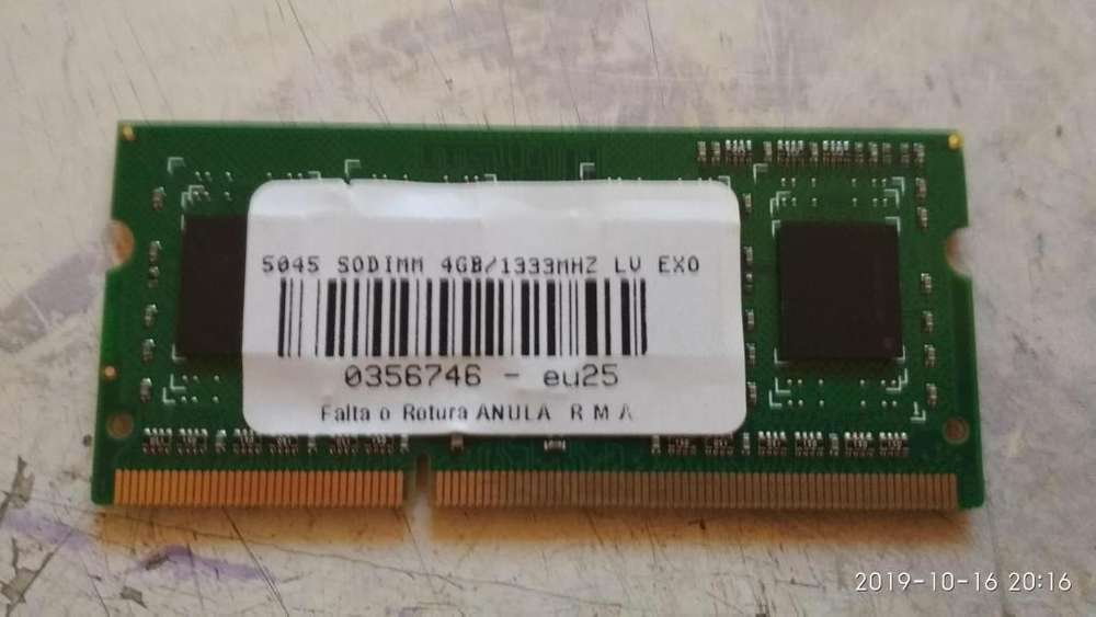 <strong>memoria</strong> ram soddim ddr 3 4gb notebook