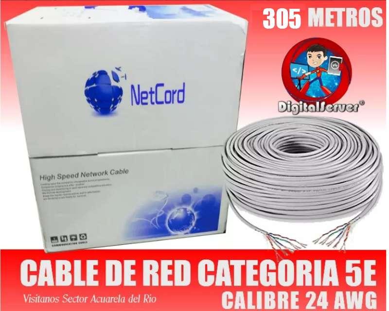 Rollo Carton Cable Red Utp Categoria 5e Interior 305 Metros para Camaras Redes Porteros