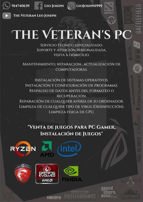 The Veterans's PC - Mantenimiento y Reparación de computadoras
