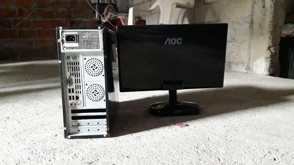 Vendo Cpu con Monitor Marca Aoc 19
