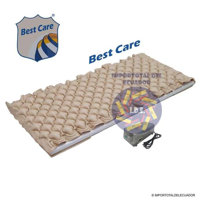 Colchones antiescaras antillagas marca Best Care ''nuevos'' 1 plaza / uso individual / Incluye motor y accesorios
