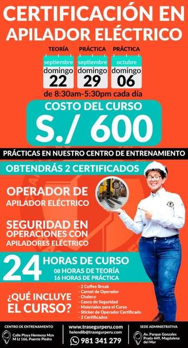 CERTIFICATE COMO OPERADOR DE APILADOR ELÉCTRICO¡¡¡¡