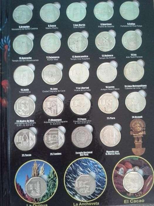 Álbun De Colección De Las Series Numismaticas Del Perú