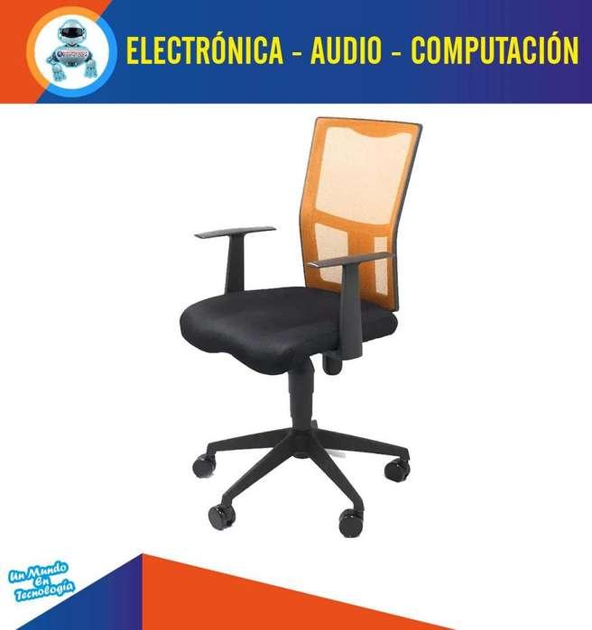 Silla Giratoria De Oficinas Escritorios Con Apoya Brazos Naranja elegante Diseño