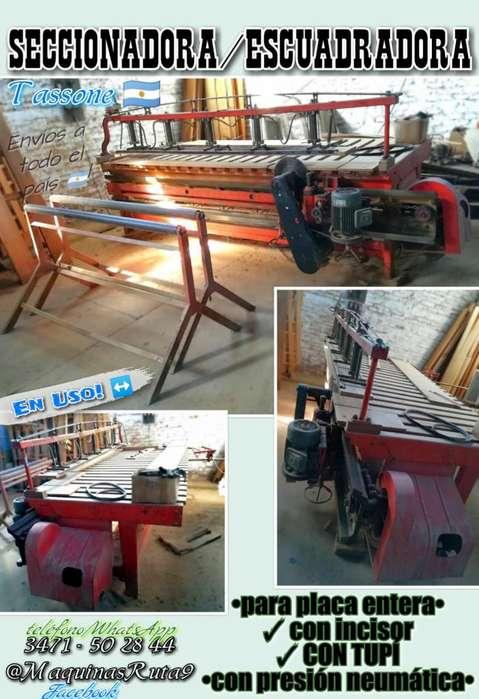 SECCIONADORA/ESCUADRADORA con incisor y tupí ø máquinas de carpintería fábrica de muebles aserradero sierra ø