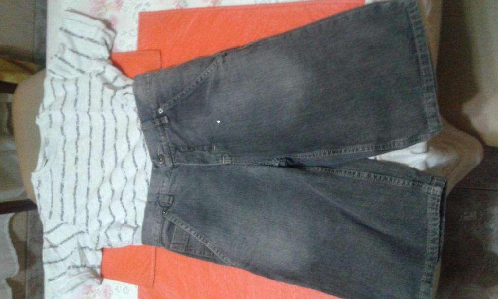Remera Y Bermuda de Jeans Cheeky