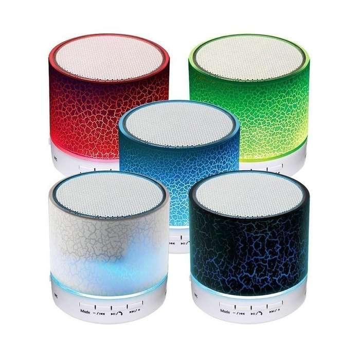 Parlante Bluetooth USB Micro SD FM RGB Colores