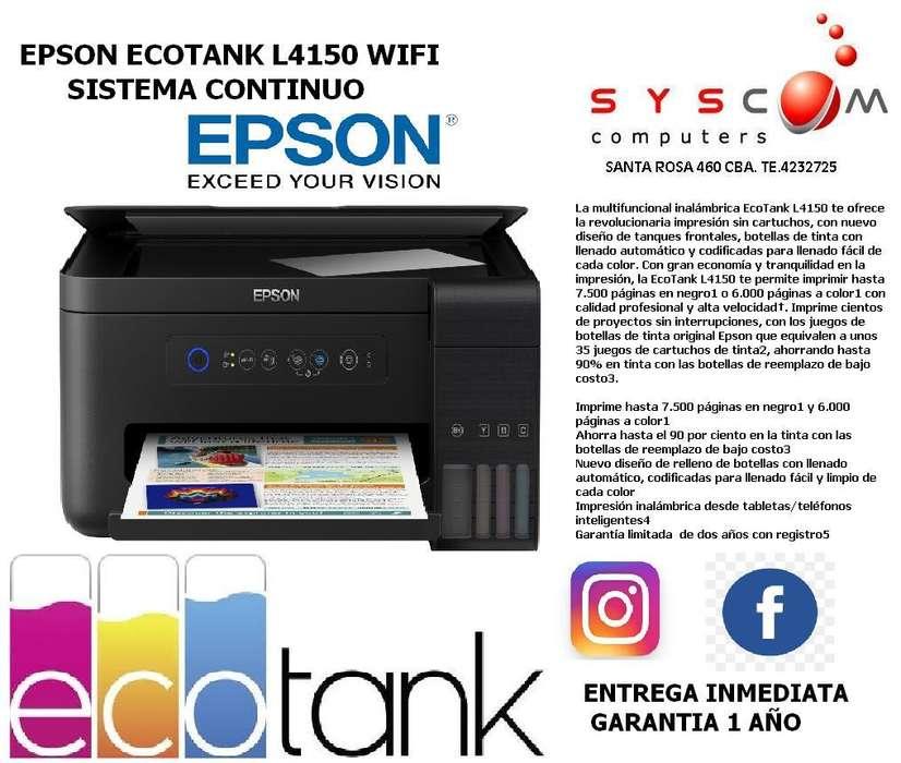 PROMO EPSON L4150 ECOTANK SISTEMA CONTINUO CON WIFI