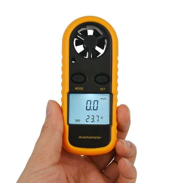 Anemómetro Digital Medidor Velocidad Viento Y Temperatura