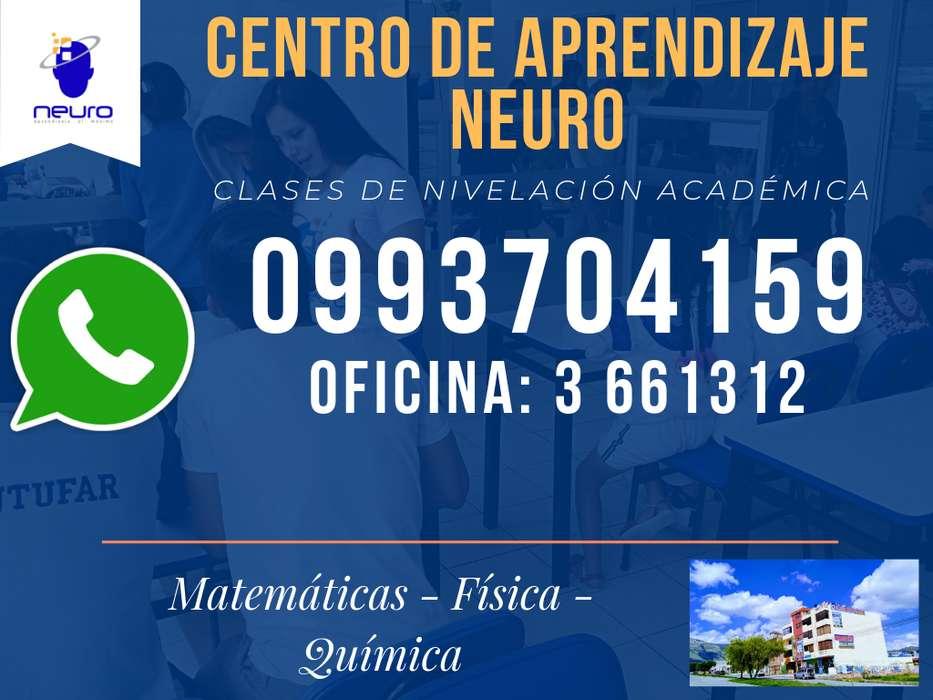 CLASES DE QUIMICA-FÍSICA Somos un Centro de Apoyo Académico para Quito y los Valles