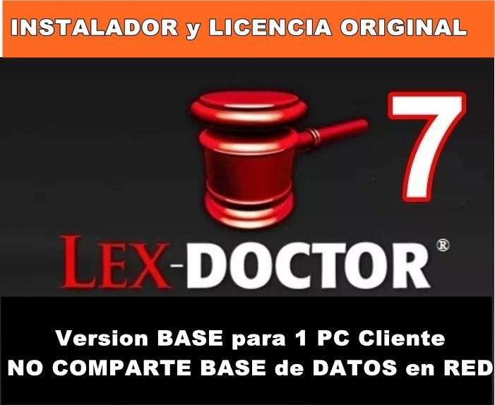 Lex Doctor 7 BASE Para UNA PC Cliente COMPARTE DATOS los DATOS en RED CHAVEZ COMPUTACION