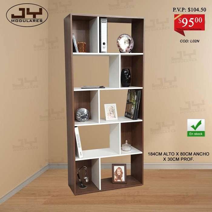 Librero modular Estante archivador modular, muebles listos de entregar