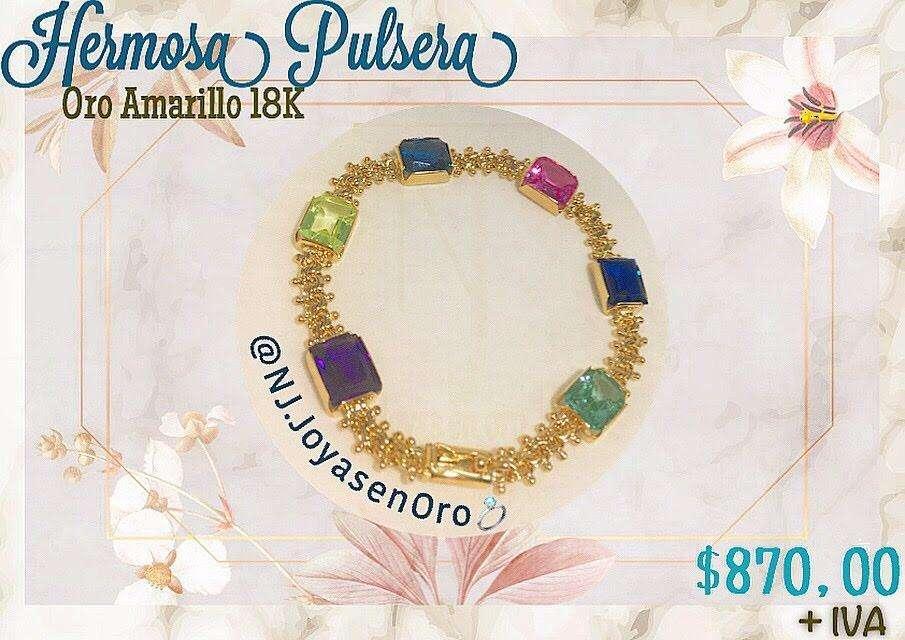 Hermosa Pulsera de <strong>oro</strong> Amarillo 18K
