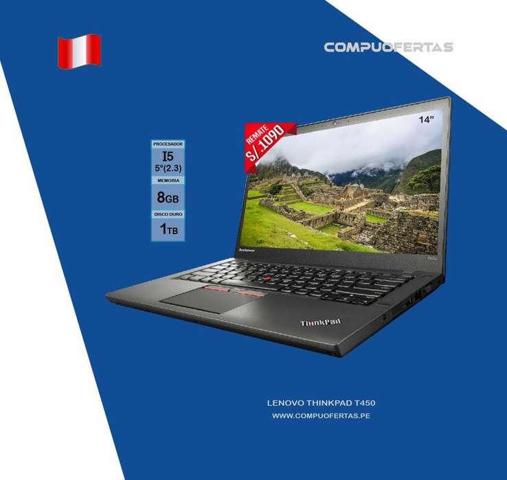Laptop Lenovo Thinkpad T450 Core i5 Ram 8GB Disco 1TB