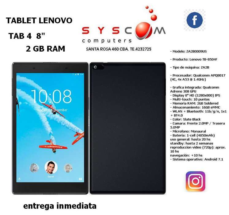 TABLET LENOVO TAB 4 8 2 GB RAM