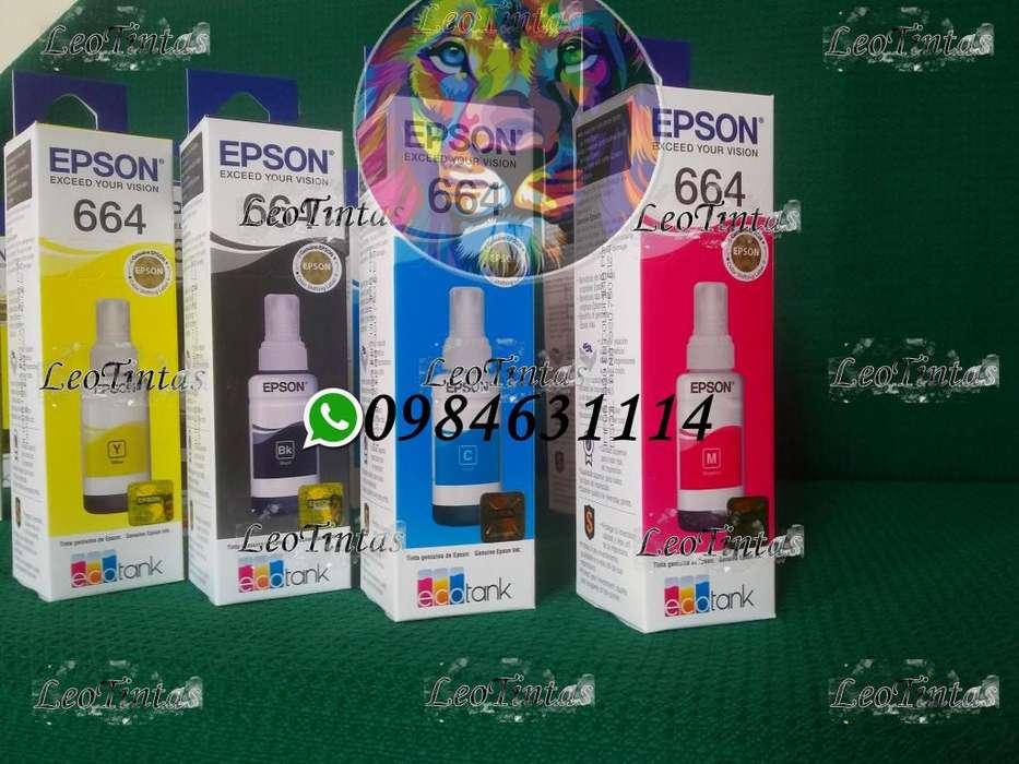 Tintas Epson Originales Ecotank Packs de 4 Colores se hacen envíos
