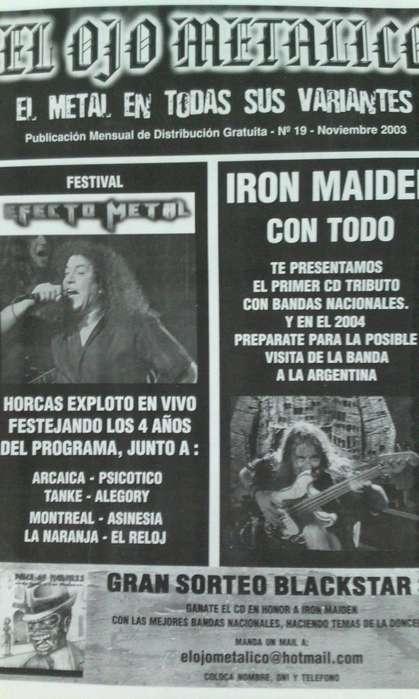 Fanzine El ojo Metalico nro.19