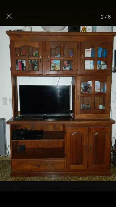 Modular Cristalero rack de tv De Algarrobo