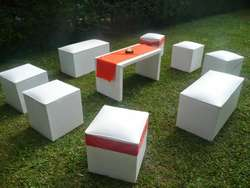Alquiler de puff para grandes y chicos,gazebos mesas y sillas etc